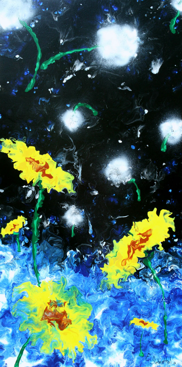 Wishes - Fluid Acrylic Art by Eric Siebenthal - Acrylicmind.com