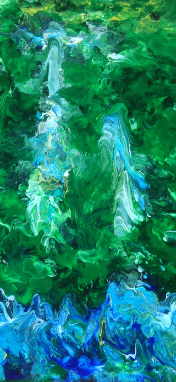 Lake of the Pines - Fluid Acrylic Art by Eric Siebenthal - Acrylicmind.com