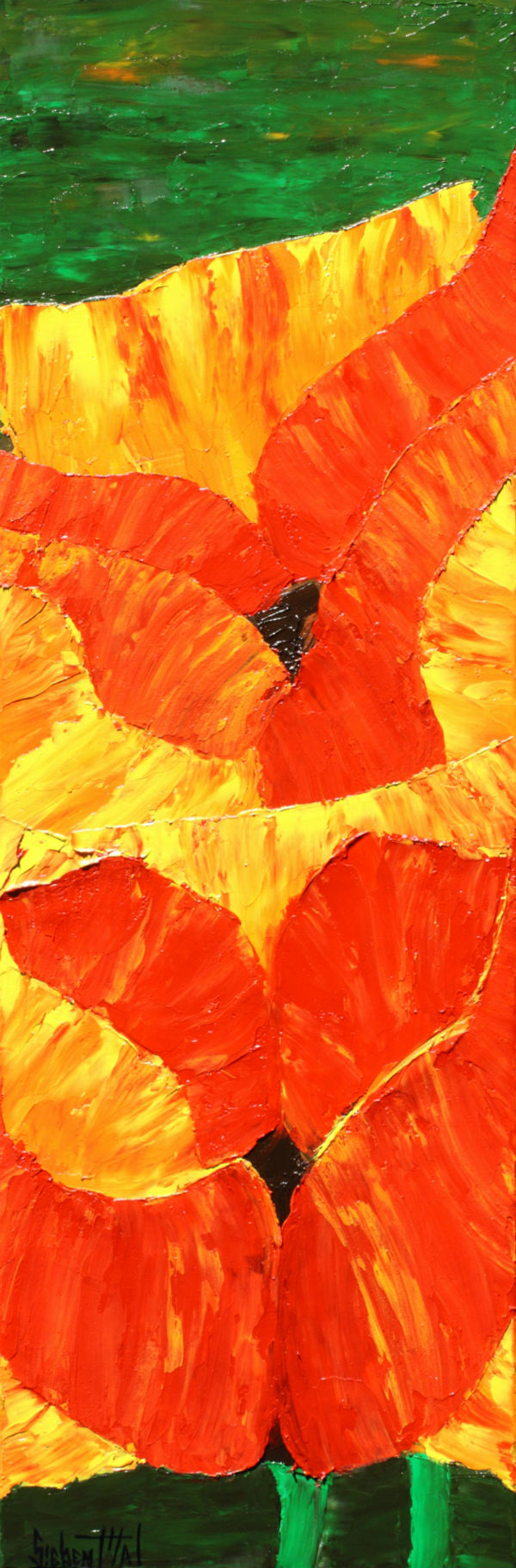 Poppy - Oil - Palette Knife by Eric Siebenthal