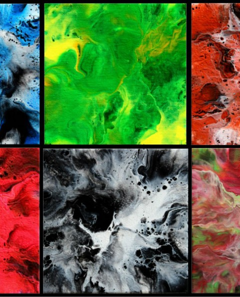 Puzzle Pieces - Fluid Acrylic Art by Eric Siebenthal - Acrylicmind.com