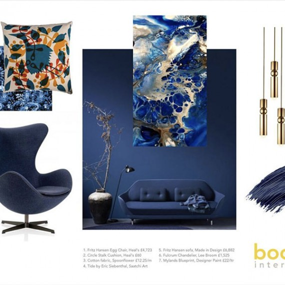 Boom Interiors - Designer Clare MiddletonFluid Acrylic Art by Eric Siebenthal