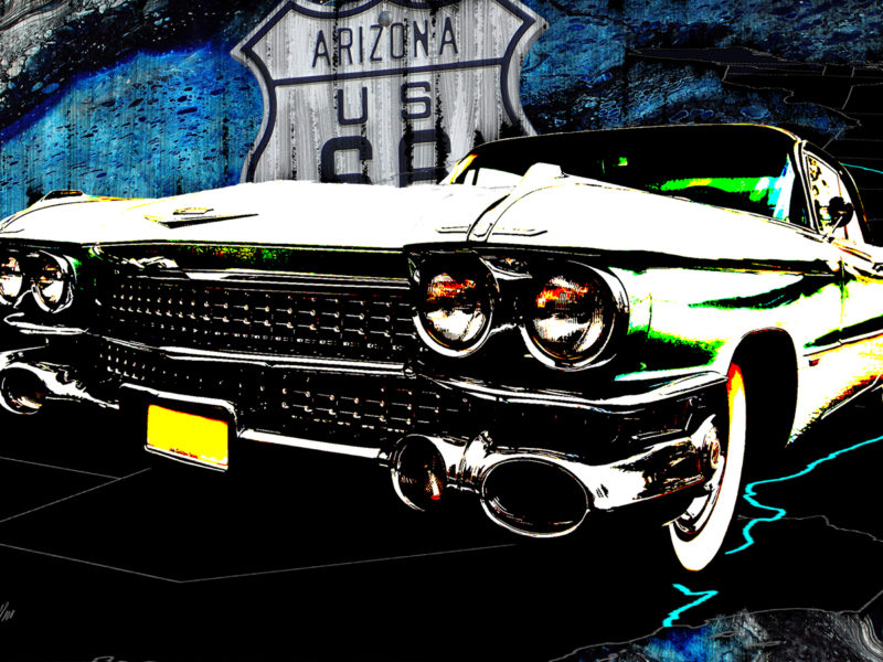 Vintage 66 - Digital Mixed-Media Art by Eric Siebenthal - Acrylicmind.com
