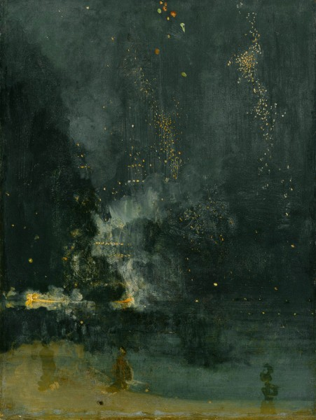 The Falling Rocket - James McNeill Whistler - Art of Abstraction - Acrylicmind.com
